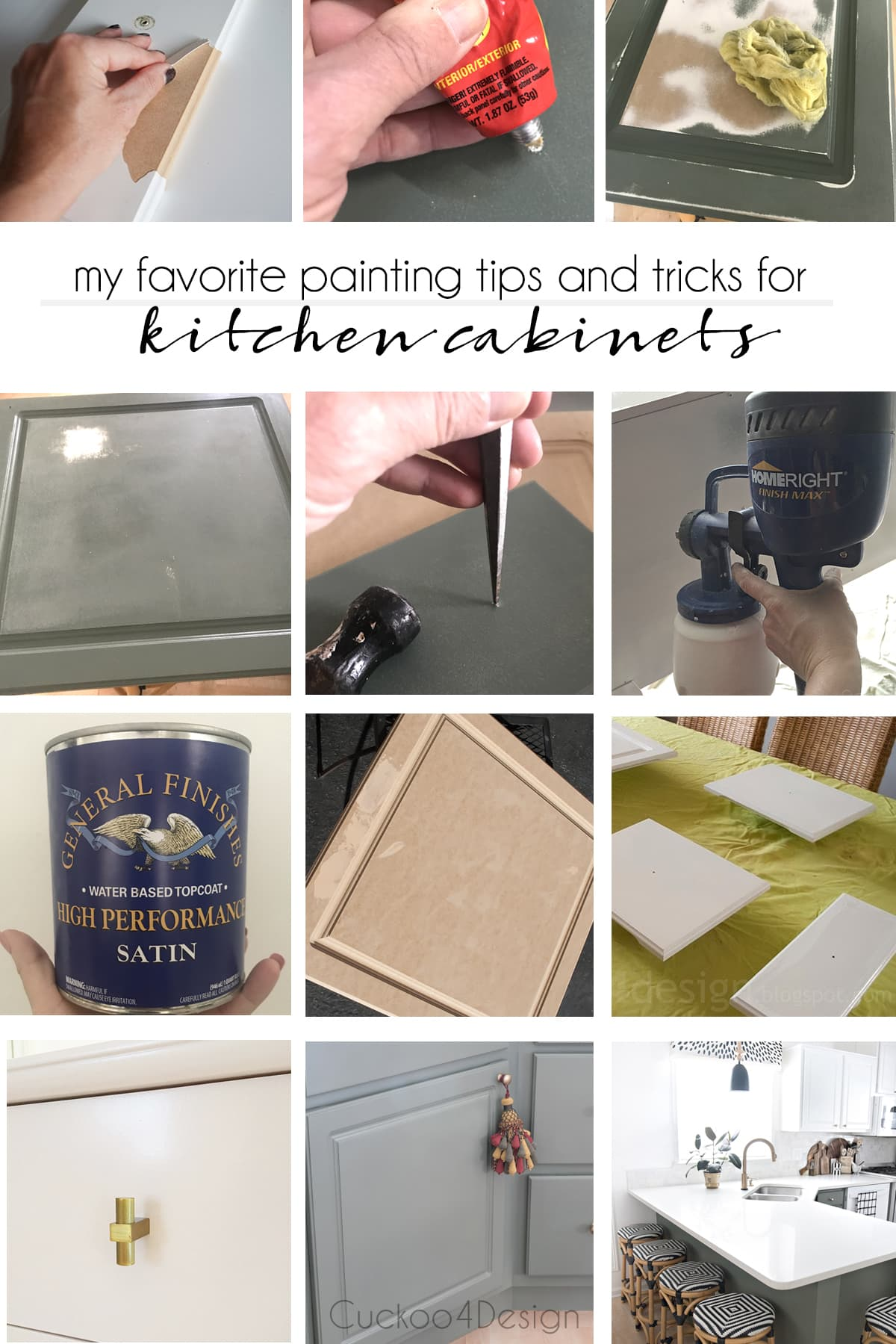 painting tips and tricks for kitchen cabinets