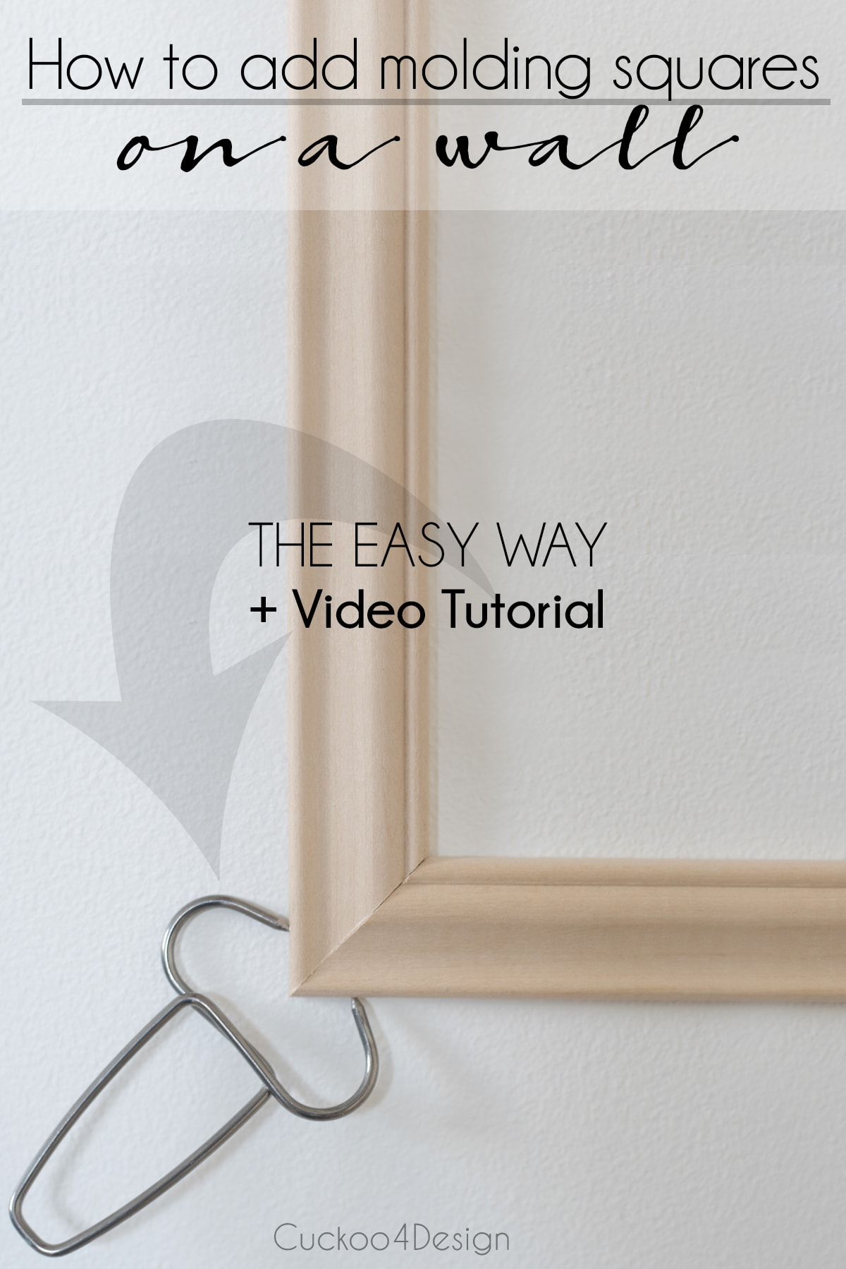 How to install wall moulding the easy way using miter clamps