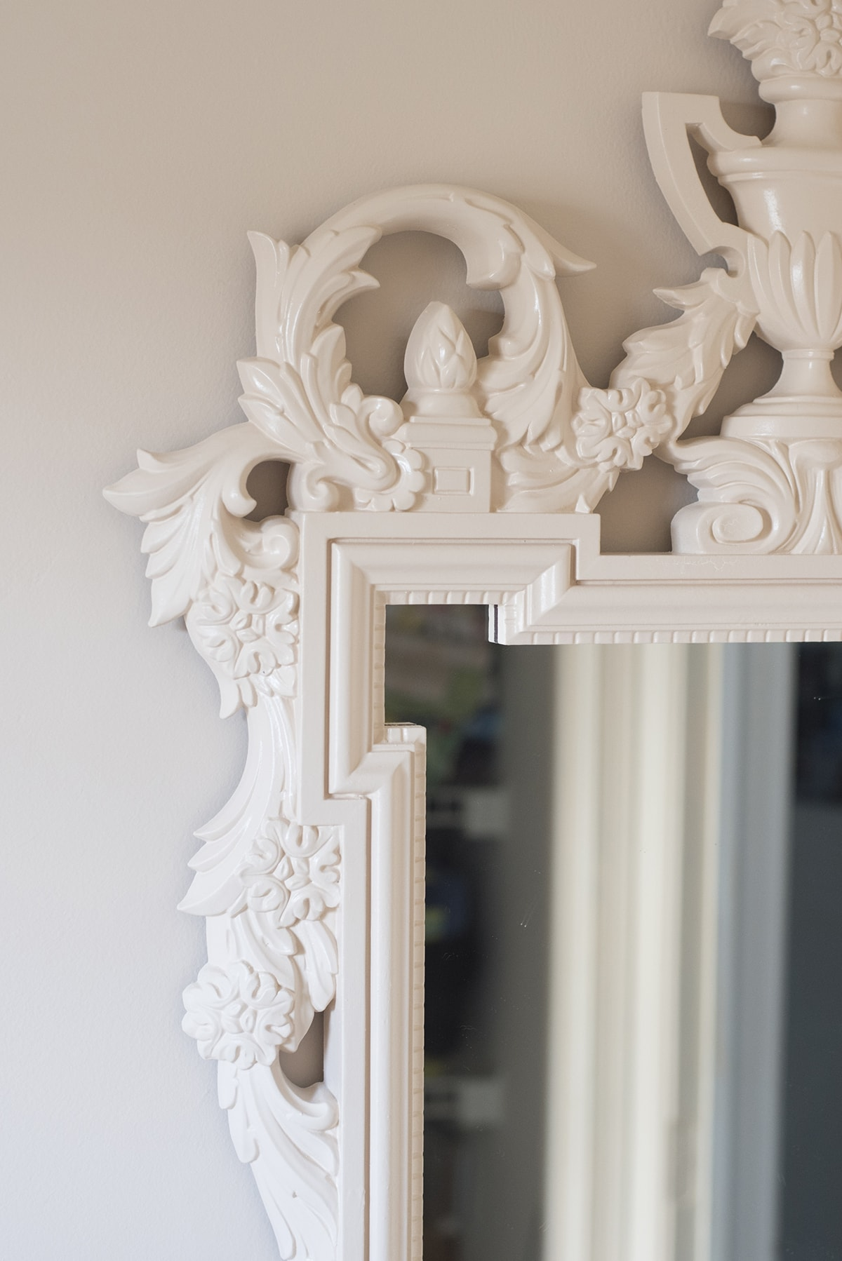 blush mirror and matching blush wall