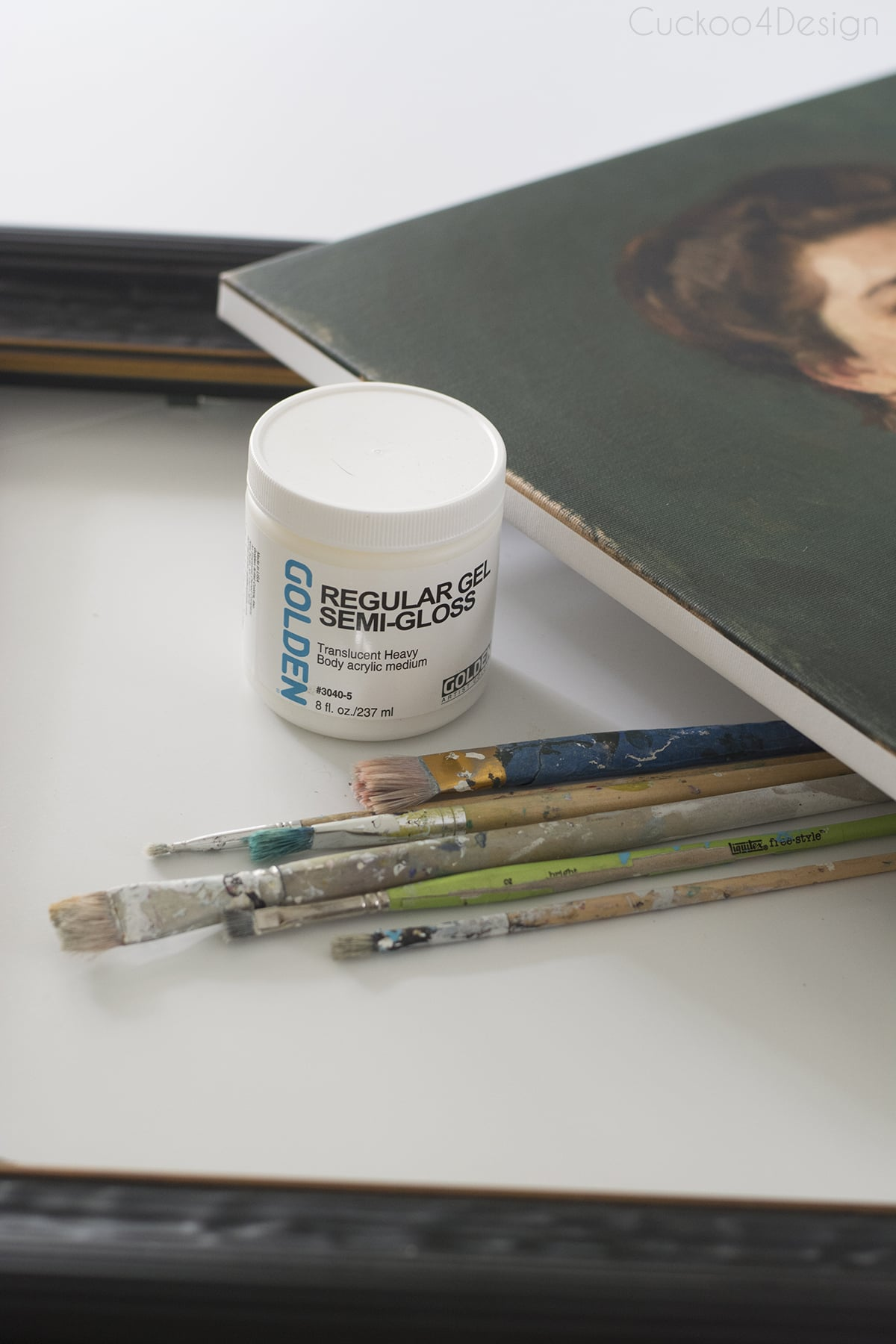 supplies needed for DIY fine art reproduction oil painting
