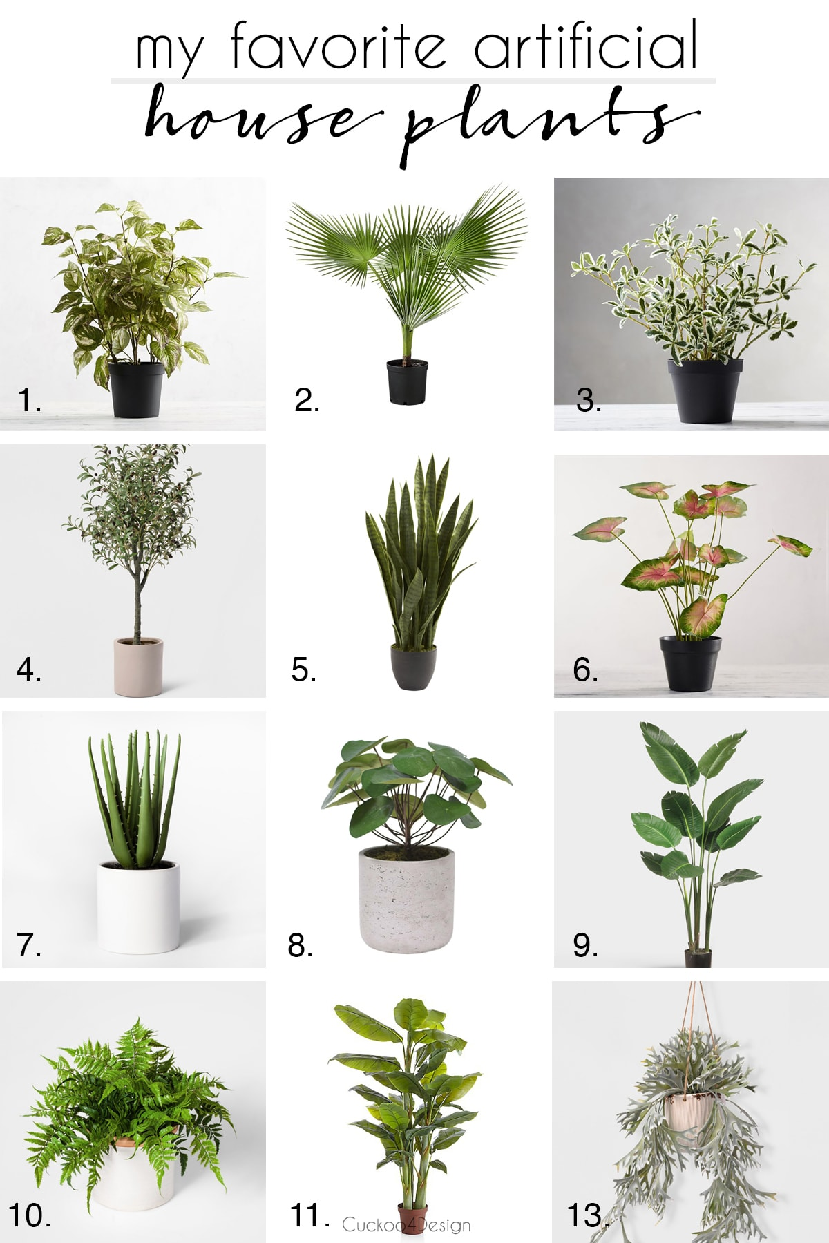 my favorite artificial house plants for sale