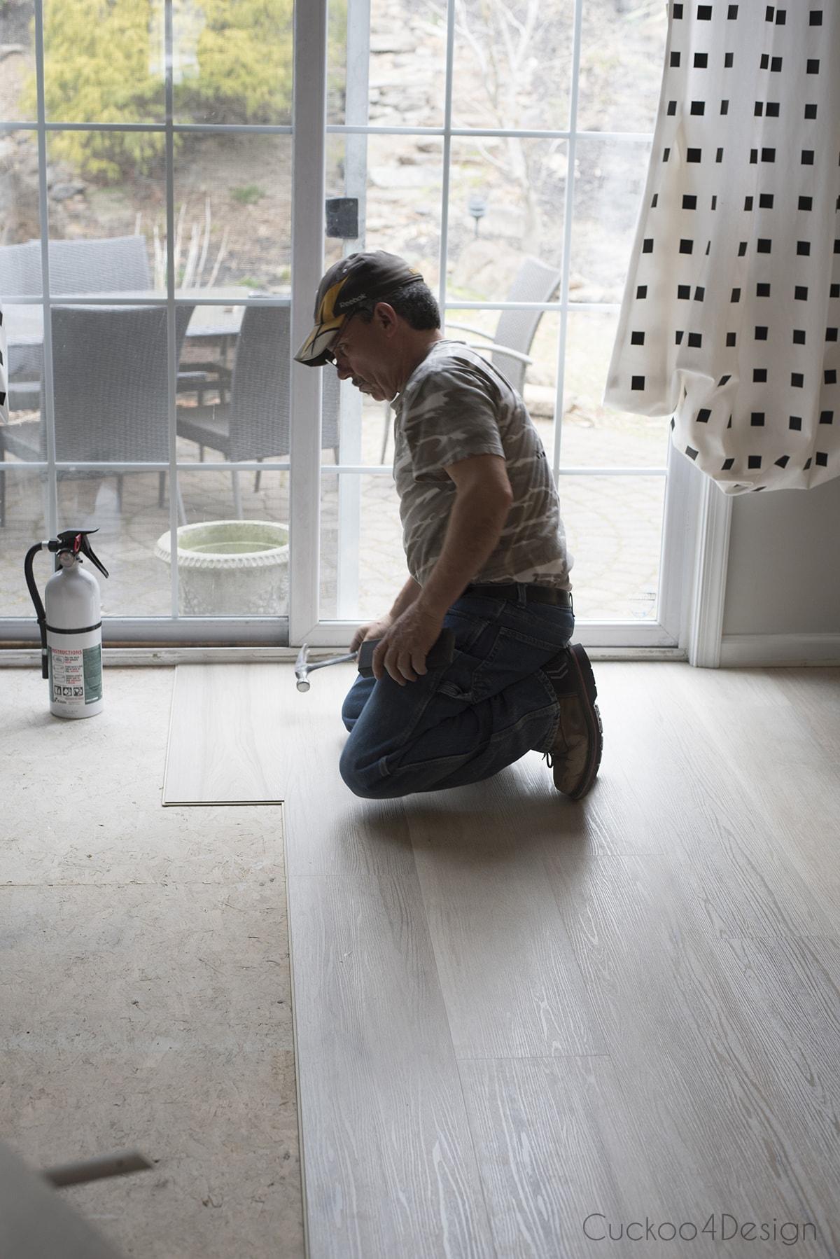 living room vinyl wood plank flooring installation
