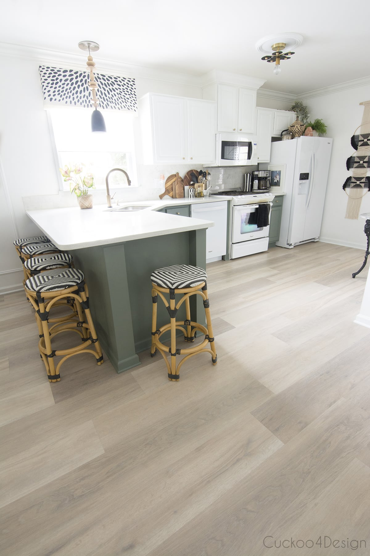 Karndean Texas White Ash vinyl wood plank flooring in my kitchen