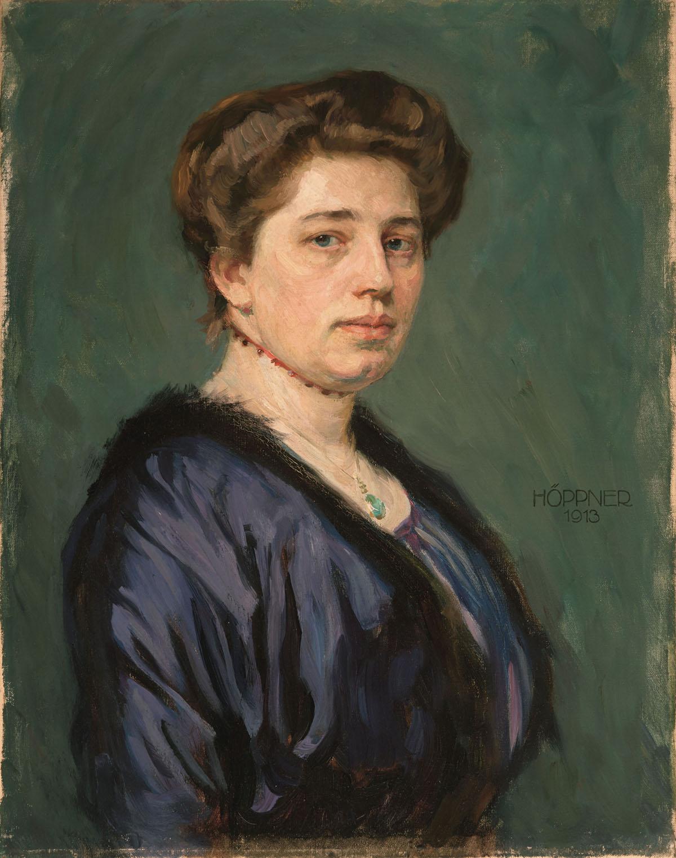 Margarete Schlieben Kaufmann painted by Höppner 1913