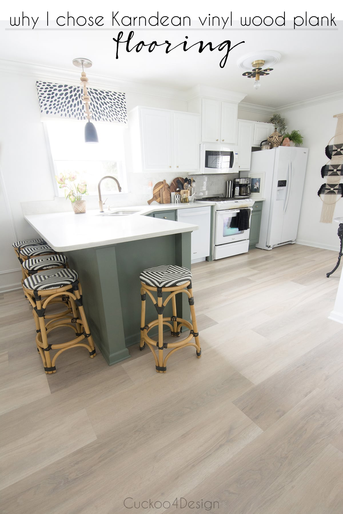 why I chose Karndean vinyl wood plank flooring for our entire main floor