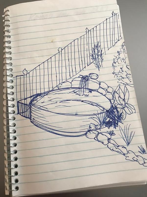 stock tank pool sketch idea
