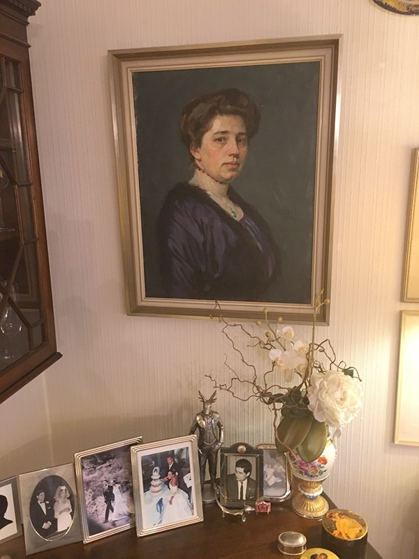 original oil painting of my great grandmother at my parents' house