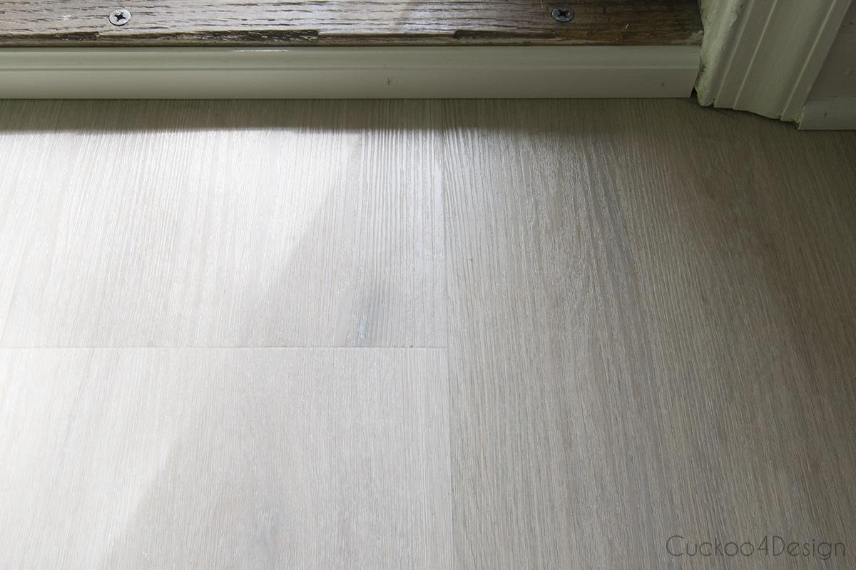 new vinyl wood plank flooring after installation