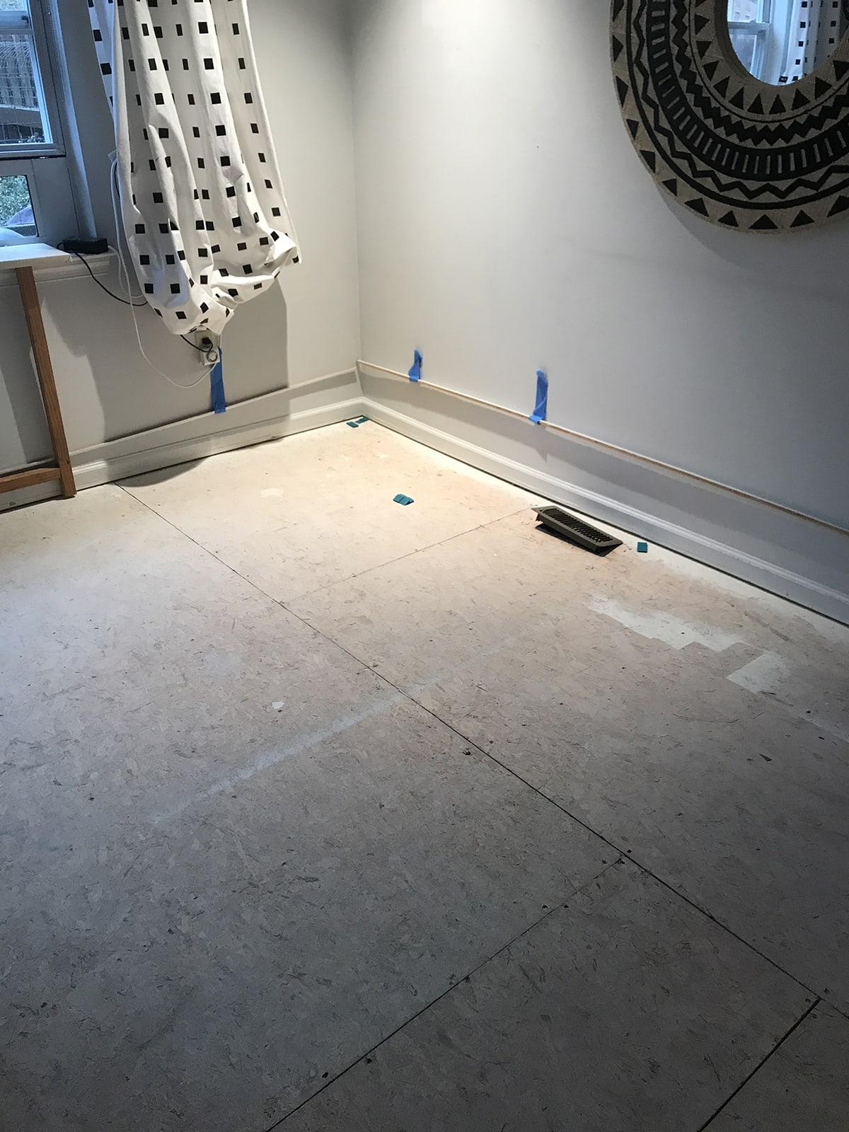 clean sub floor before vinyl wood plank flooring installation