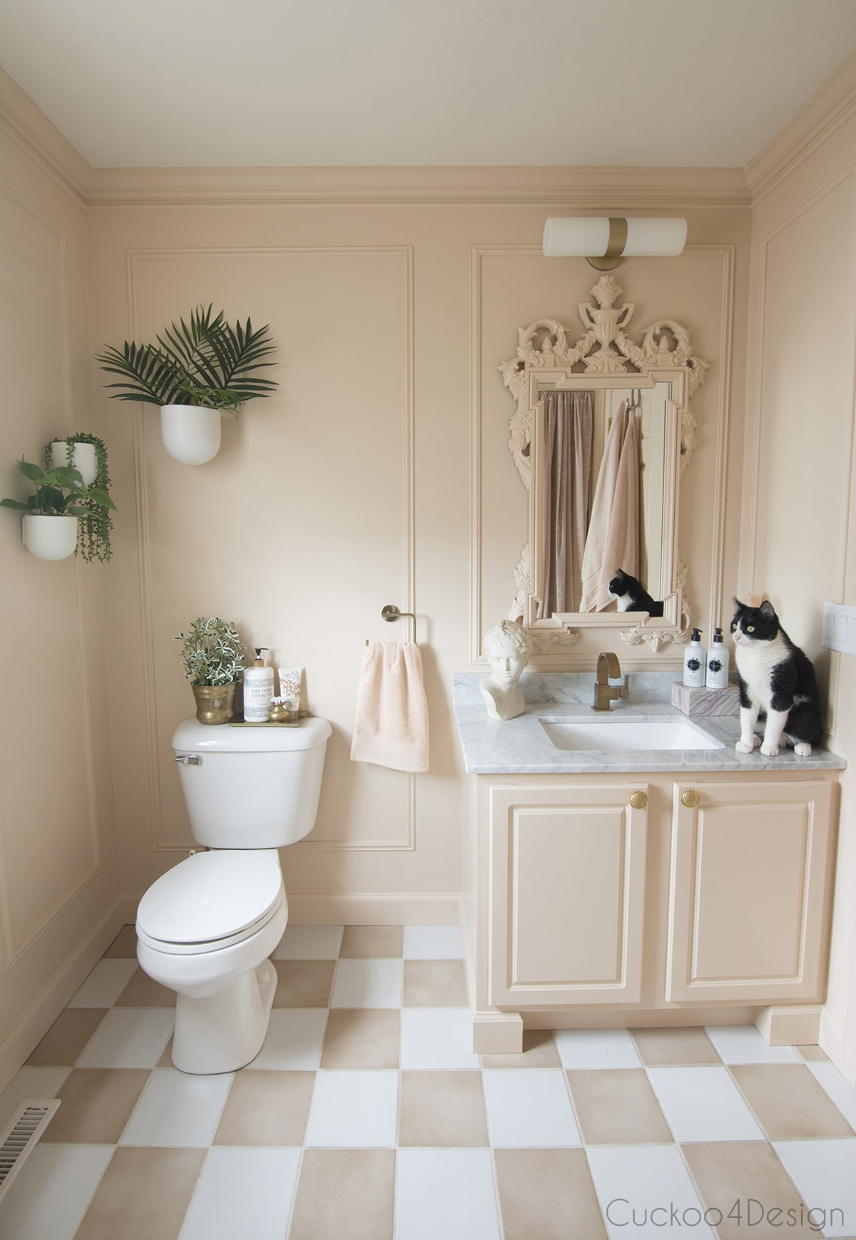 blush vintage inspired bathroom