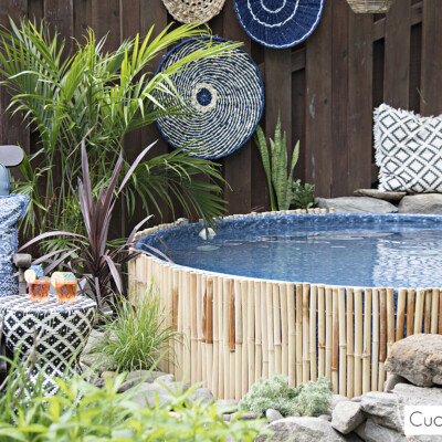 Our New Stock Tank Swimming Pool In Our Sloped Yard Cuckoo4design