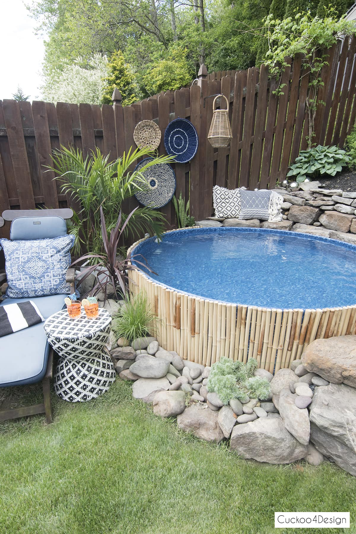 boho stock tank swimming pool
