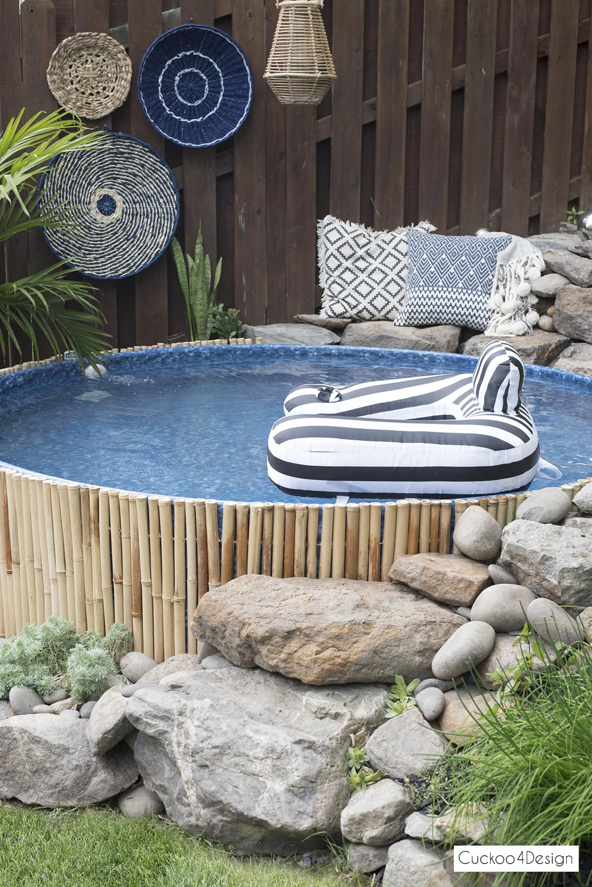 black and white float for stock tank swimming pool