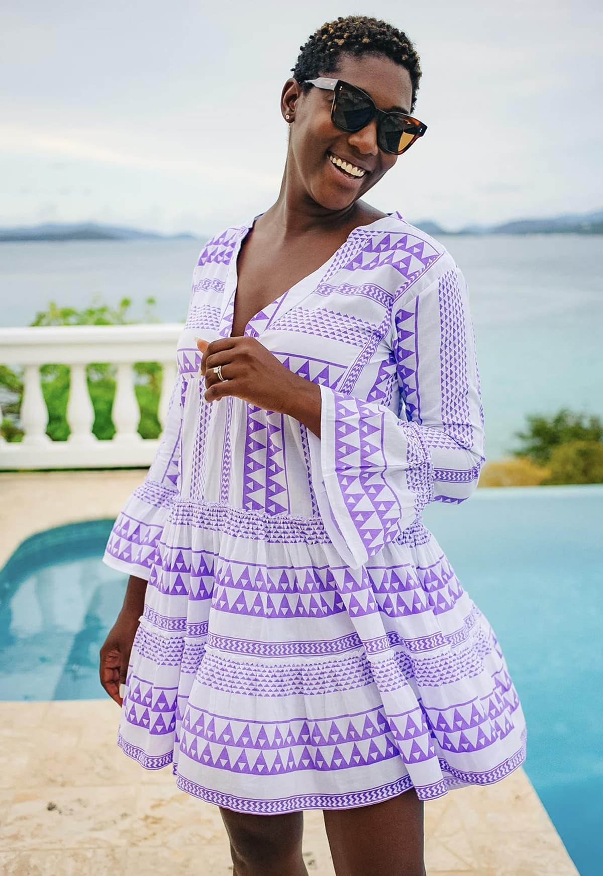 Pomander Place Lavender Salma summer tunic dress