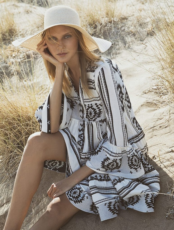 black and white Devotion Twins summer tunic dresses