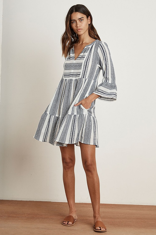summer tunic dress with pockets