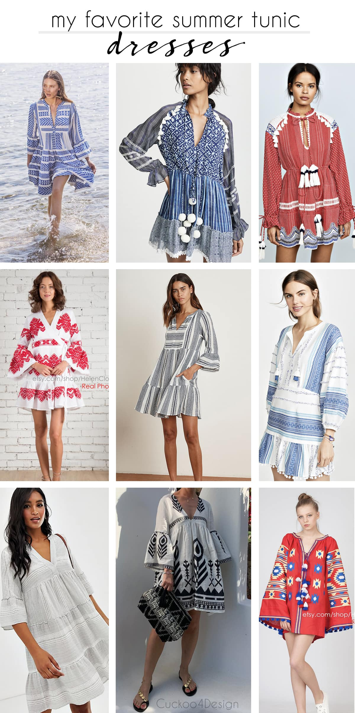 my favorite loose summer tunic dresses
