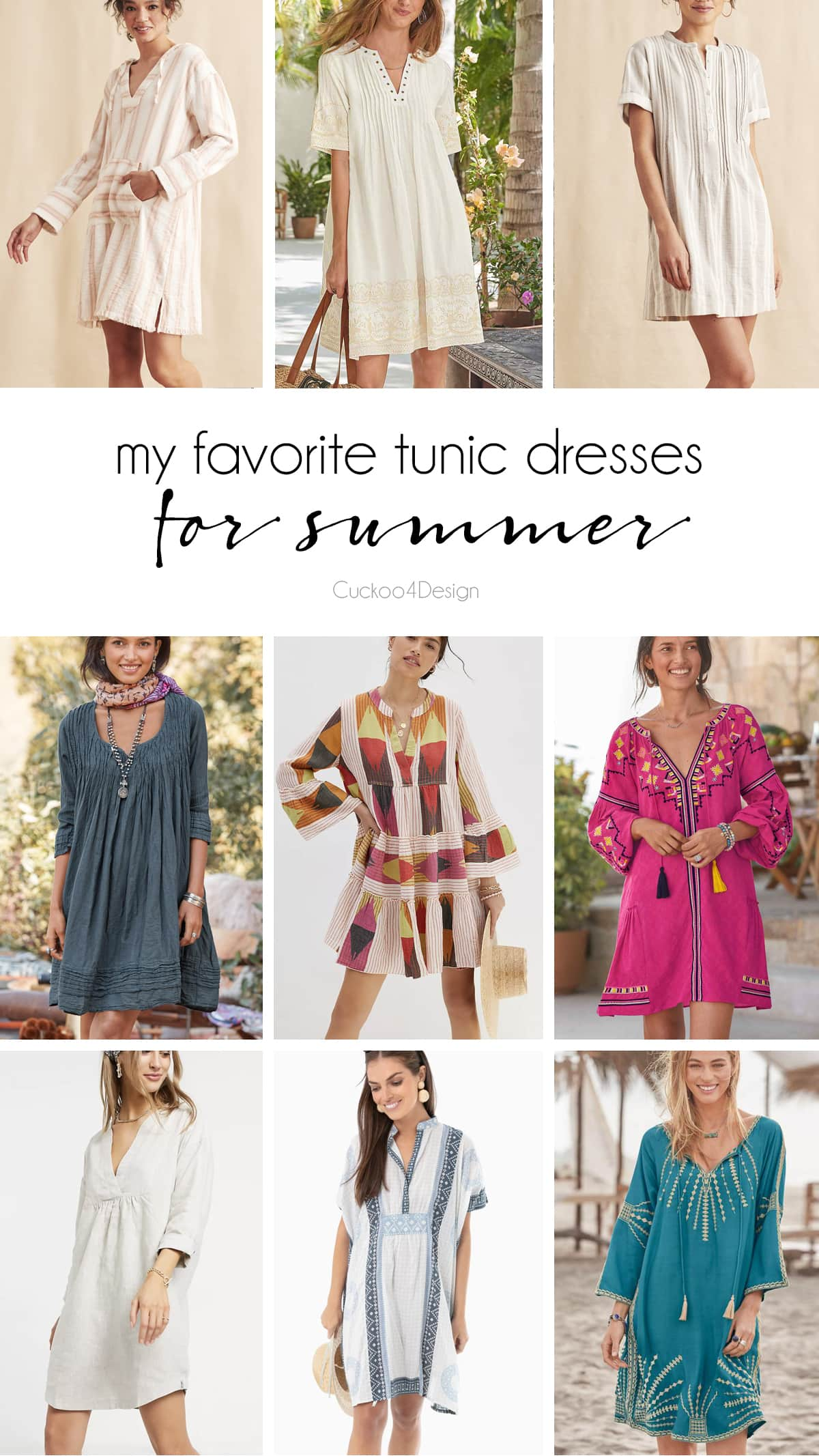 favorite tunic dresses with sleeves