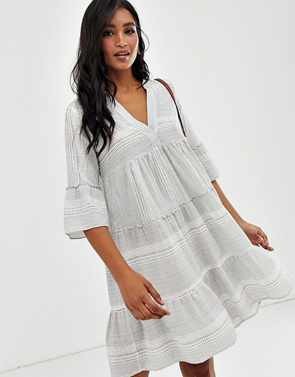 gray summer tunic dress
