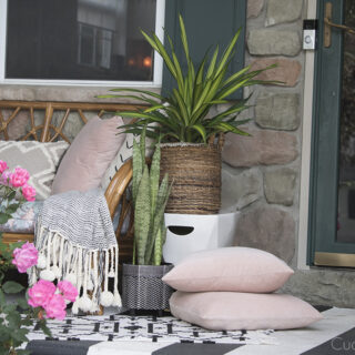 Vintage Rattan Sofa For Our Porch