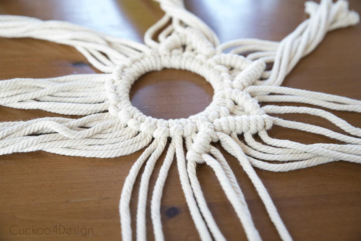 macrame wreath knot tutorial