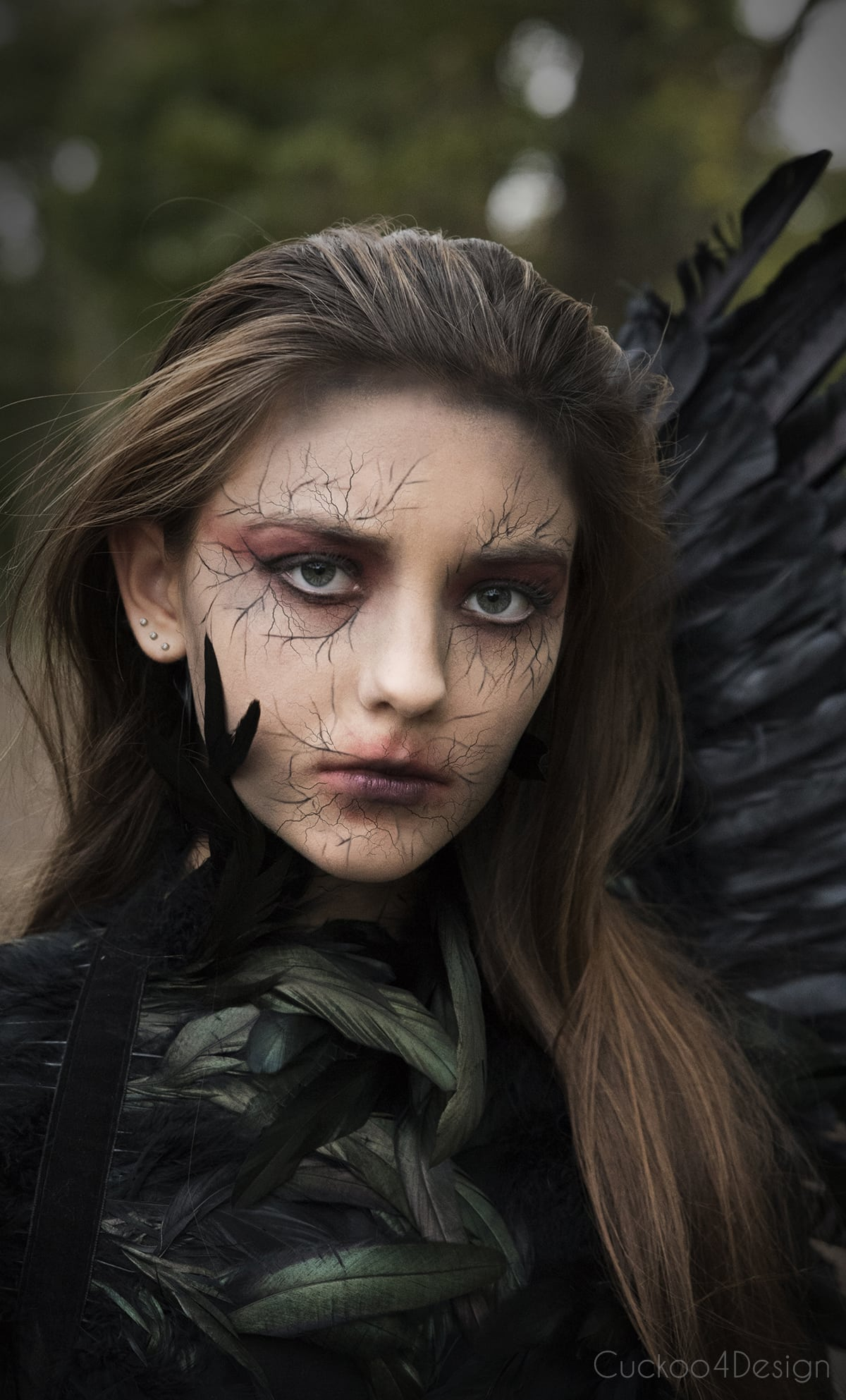 dark angel halloween costume makeup