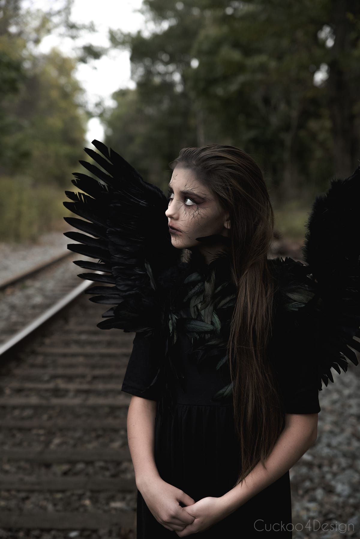 black angel Halloween costume for girls