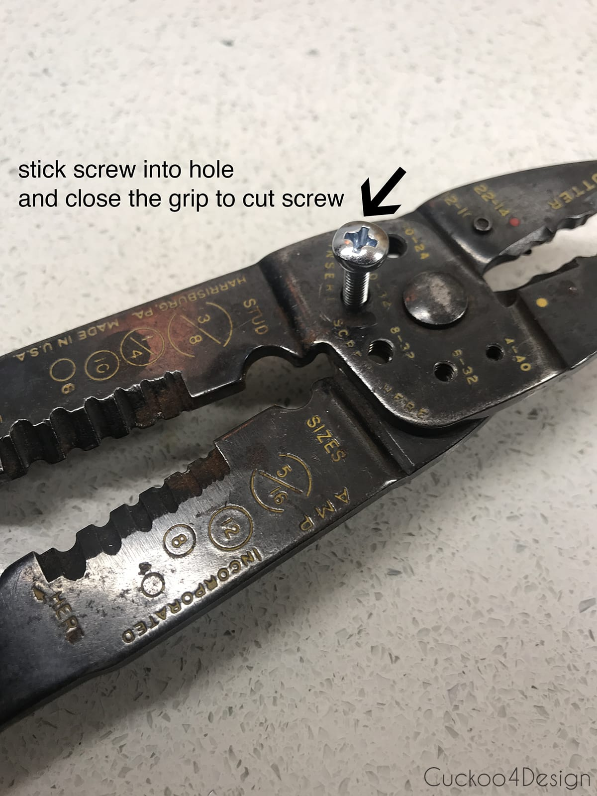 how to cut hardware screw