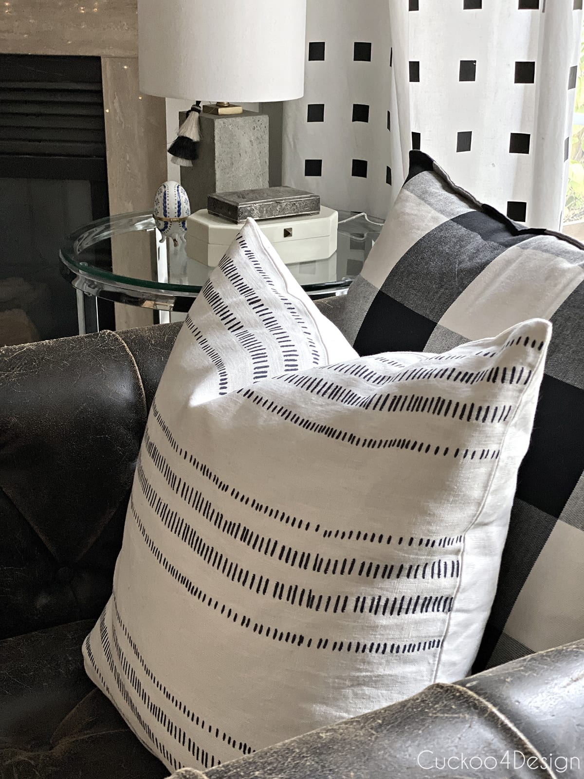 the Glennmore-Indigo pillow by City Farmhouse