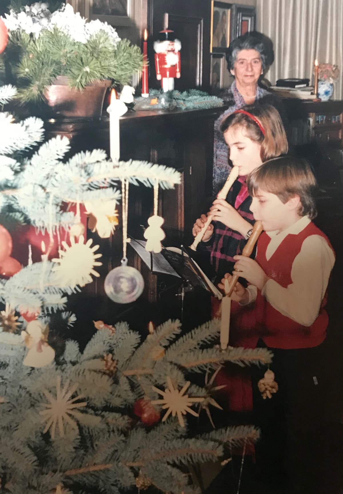 old Christmas photo from 1985