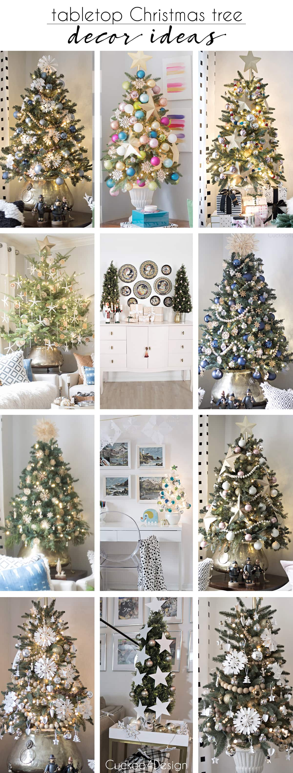 Our Large Live Tabletop Christmas Tree And Home Tour Cuckoo4design