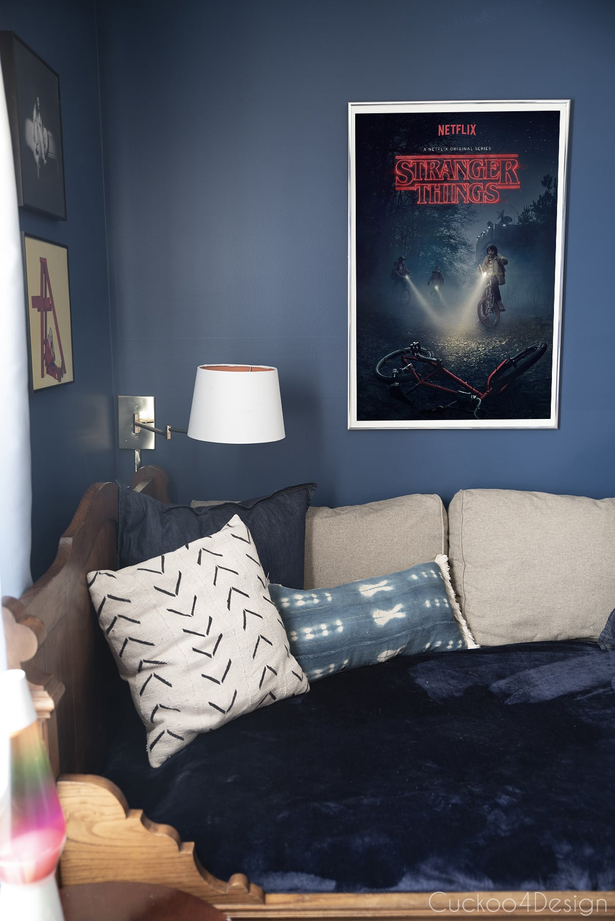 Stranger things poster in girls bedroom