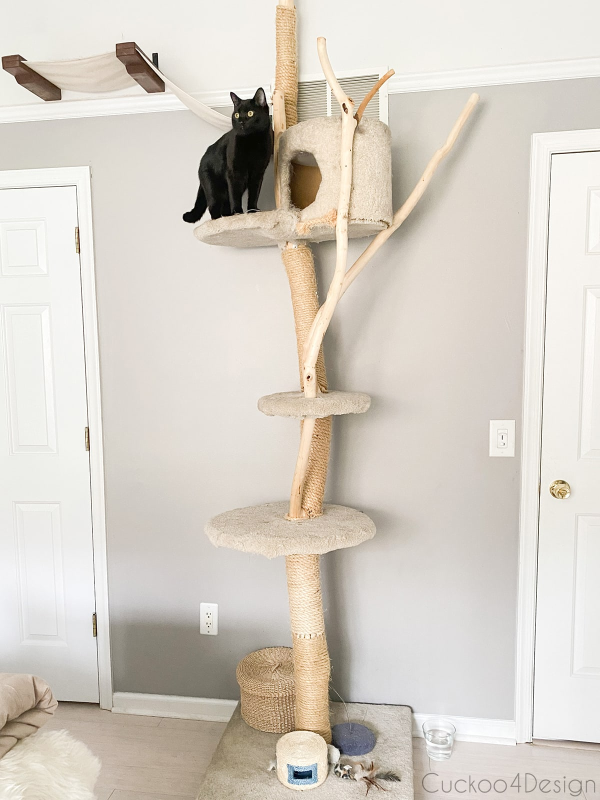 large homemade cat tree