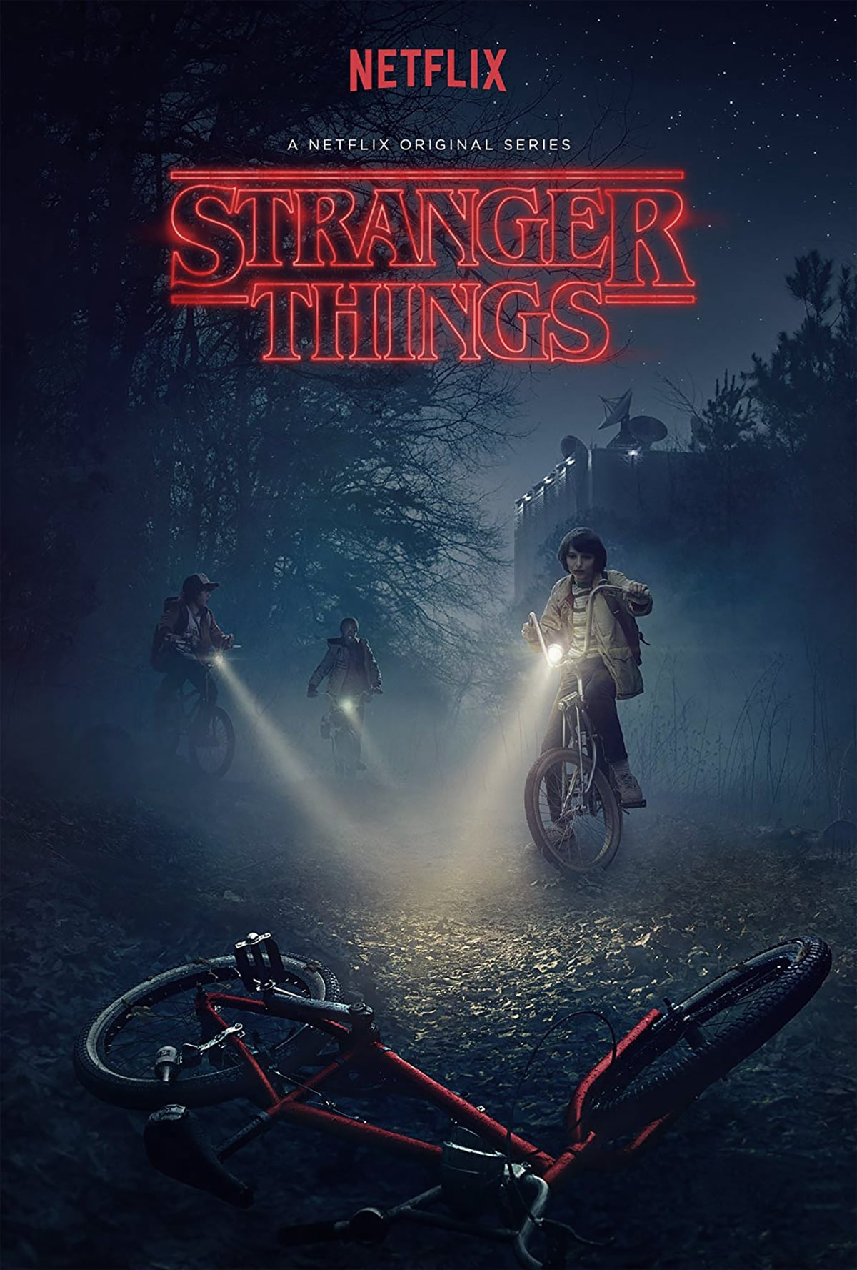 dark blue Stranger Things poster