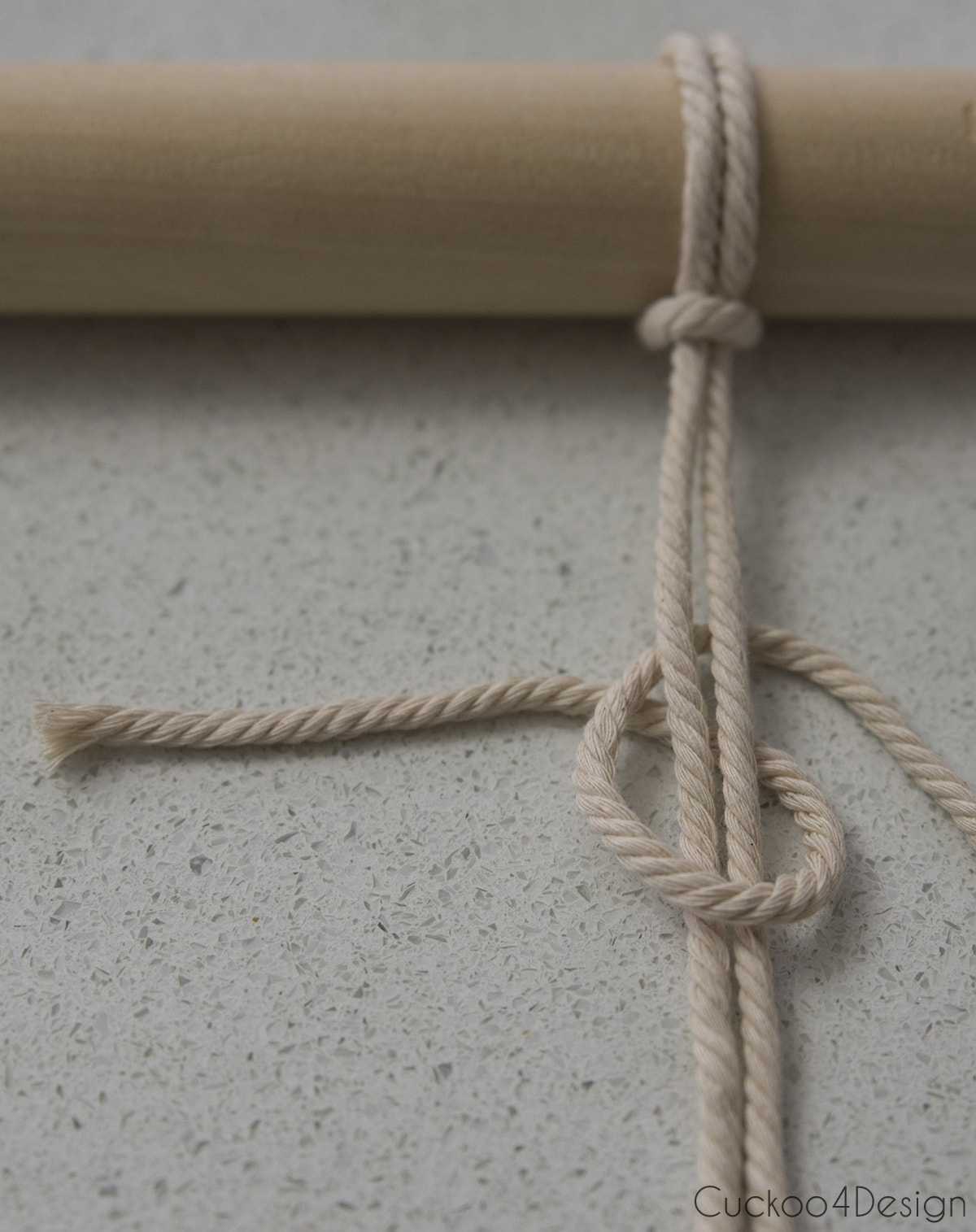 half hitch knot for easy macrame planter