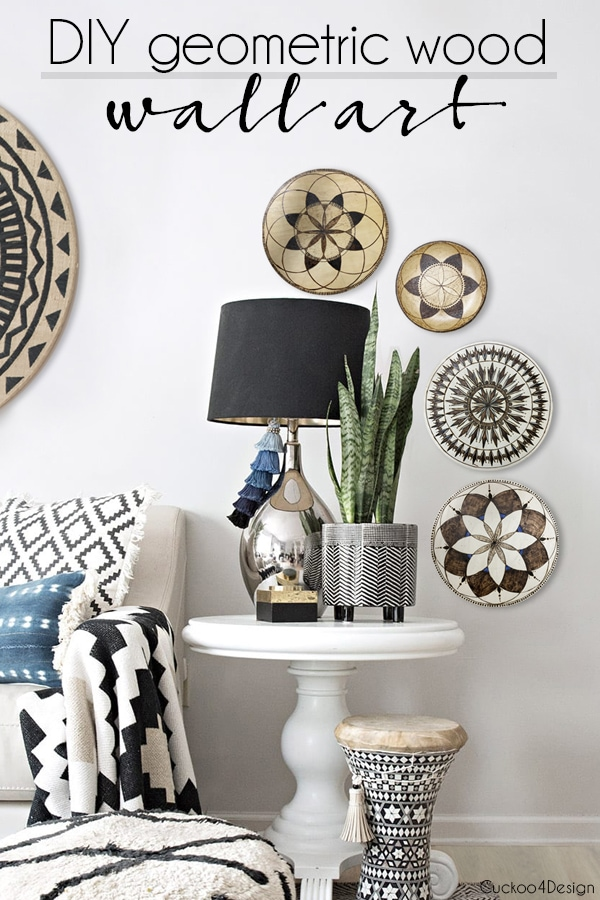 DIY geometric wooden wall art