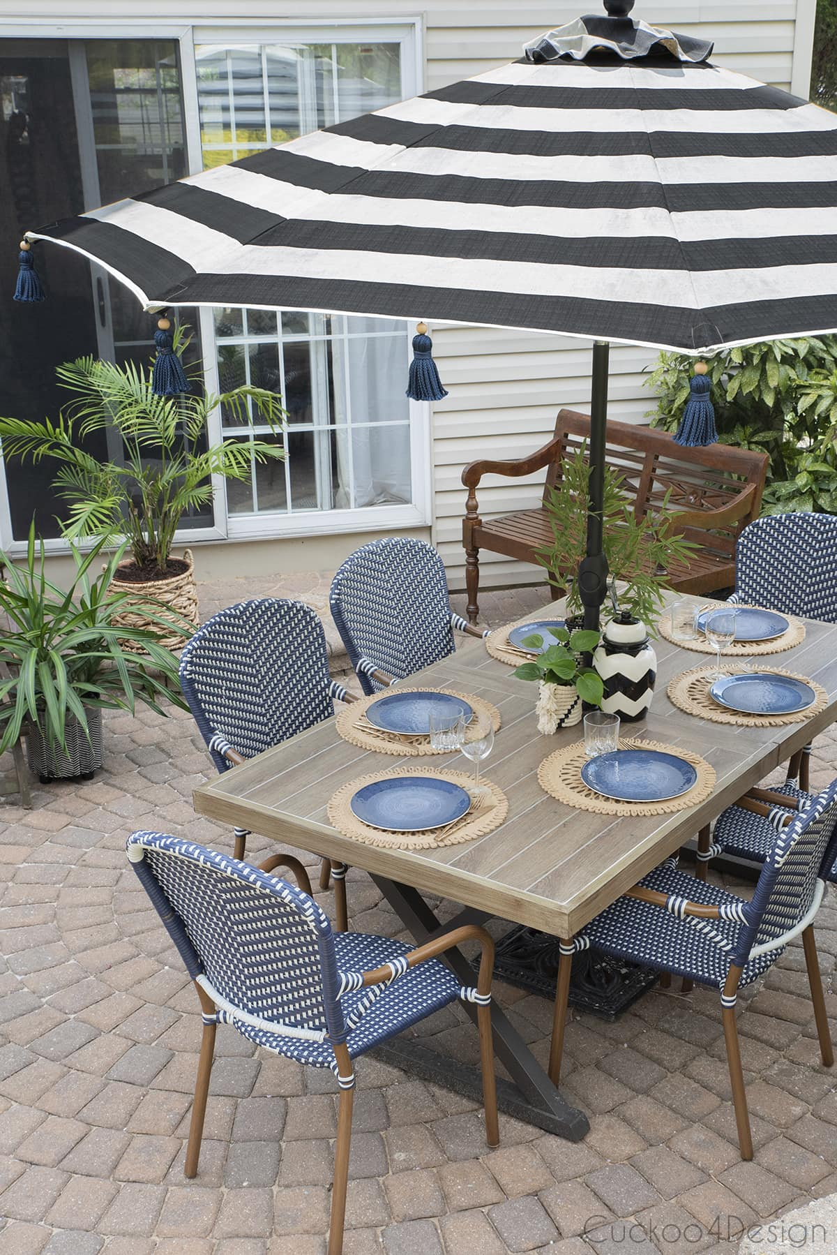 our new outdoor mixed and match patio set