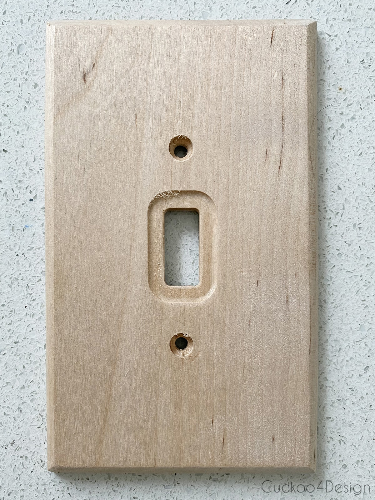 plain wood light switch cover