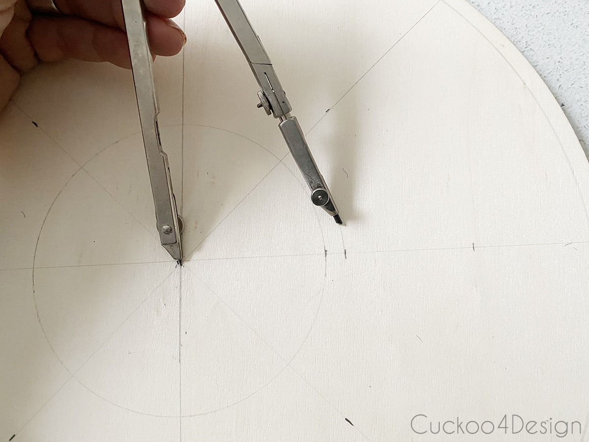 drawing in the second center circle
