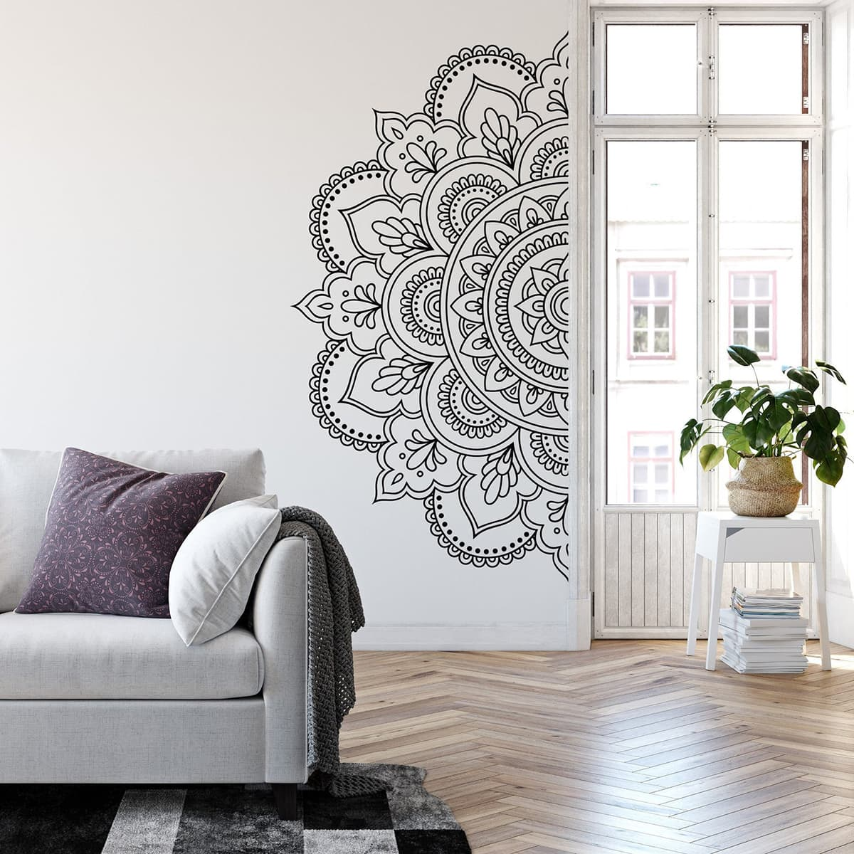 Mandala mural or sticker