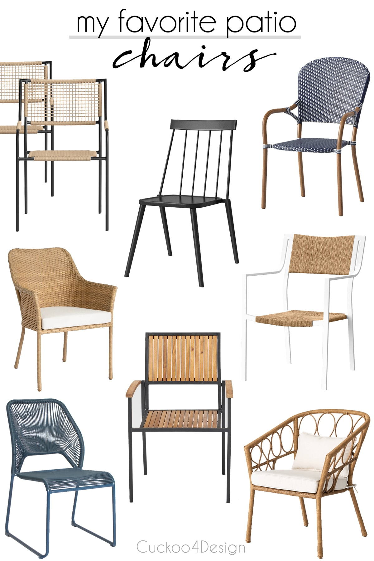my favorite patio dining chairs