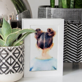 DIY watercolor printable wall art