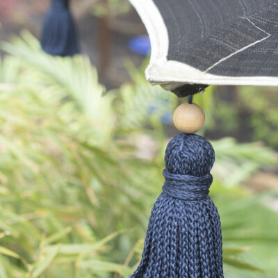 DIY tassel umbrella using durable outdoor yarn
