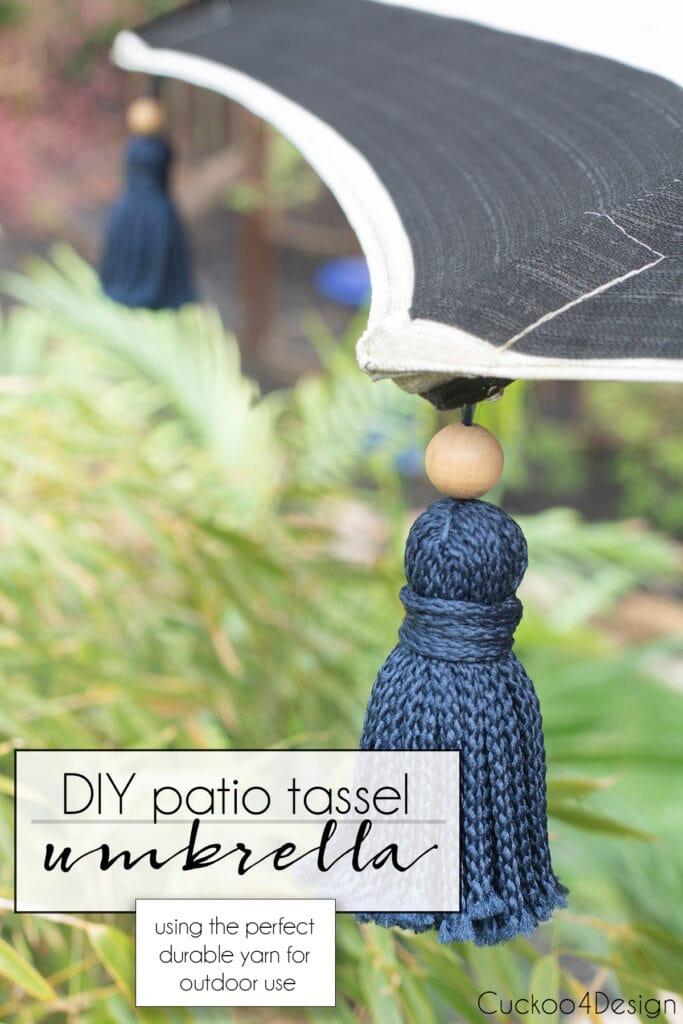 outdoor yarn tassel umbrella pin image