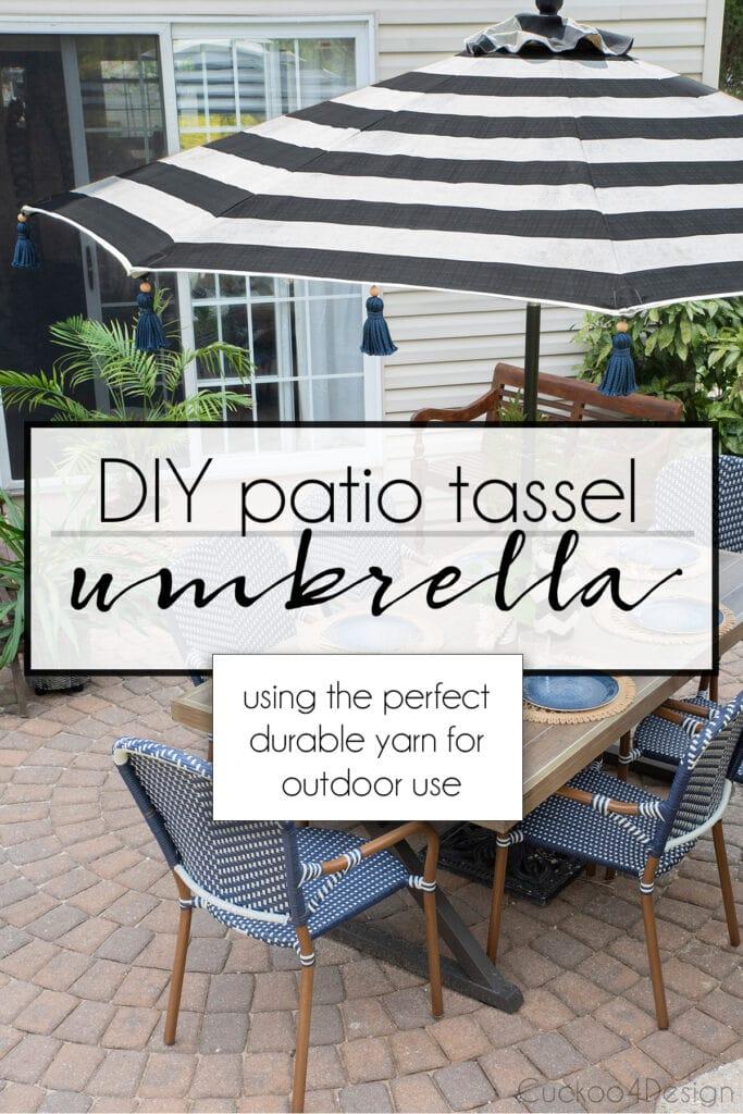 DIY tassel umbrella