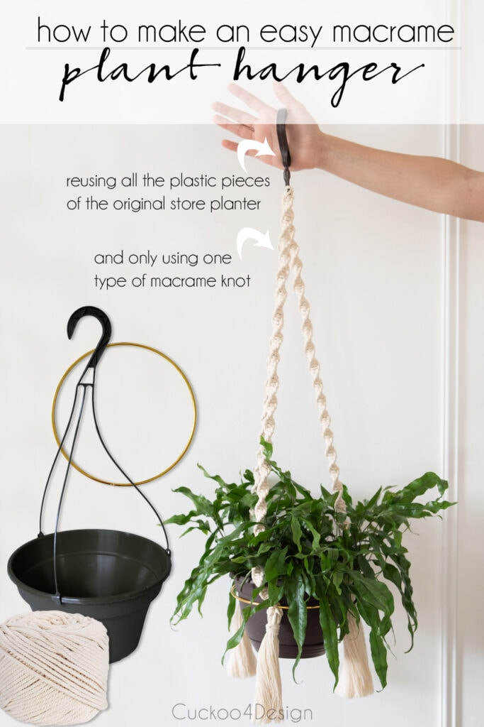 How to make a macrame planter the easy way with only one knot