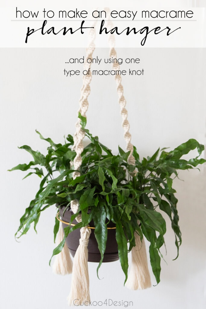 how to make an easy macrame planter using only one type of knot