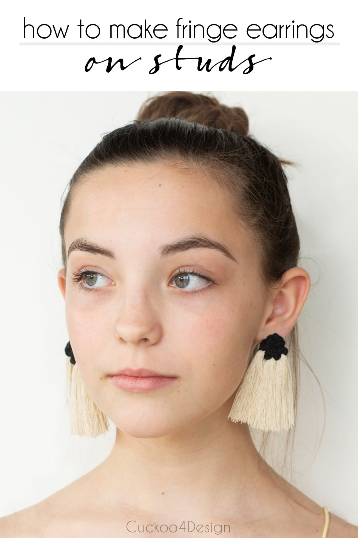How to make fringe earrings on studs and not hoops