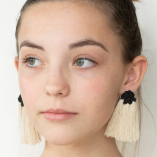 How to make fringe earrings on studs instead of hoops