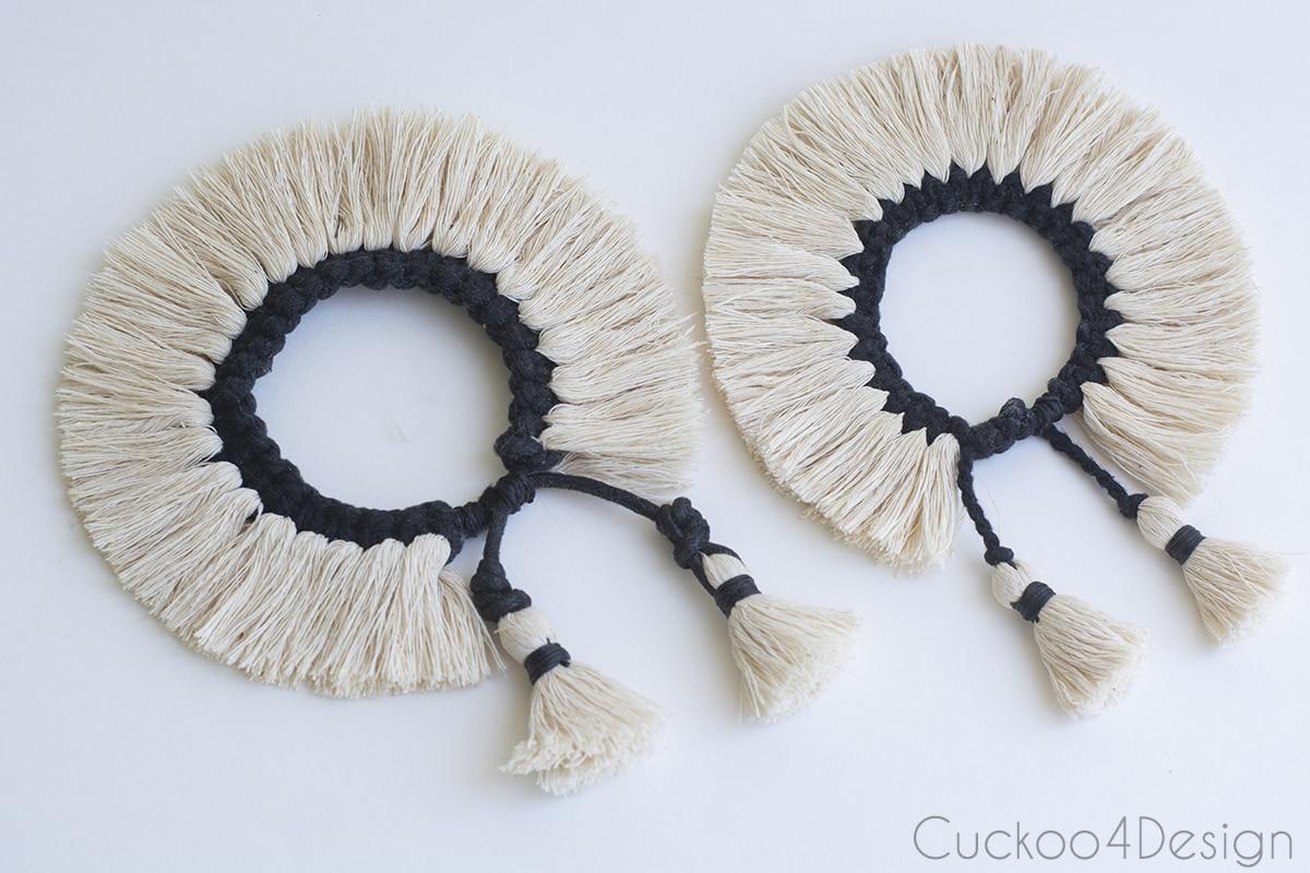 two fringe knot bracelets